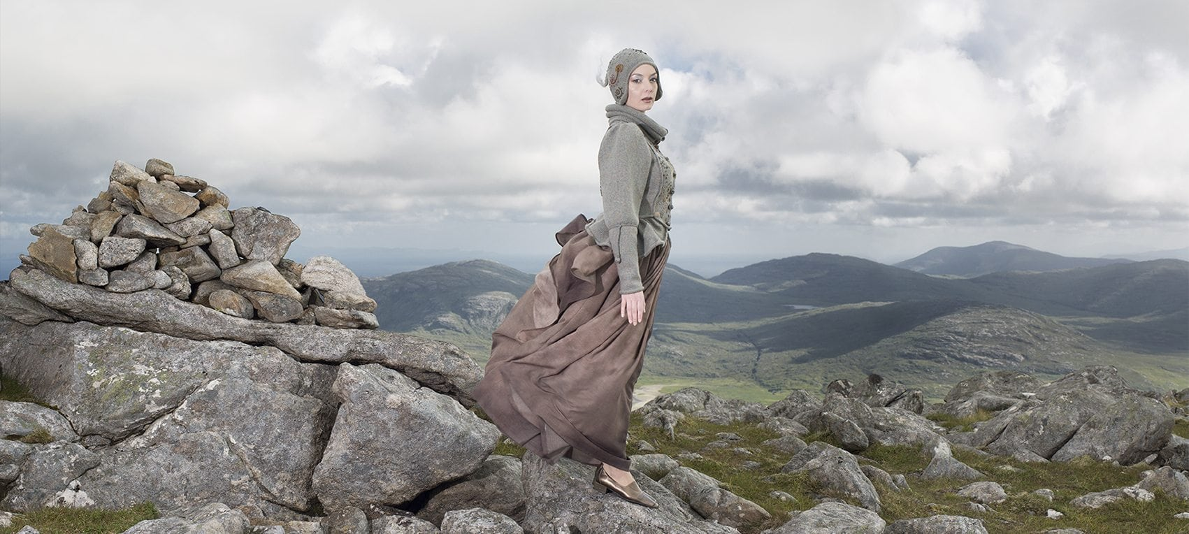 The Mountain Hare costume by Alice Starmore from the book Glamourie
