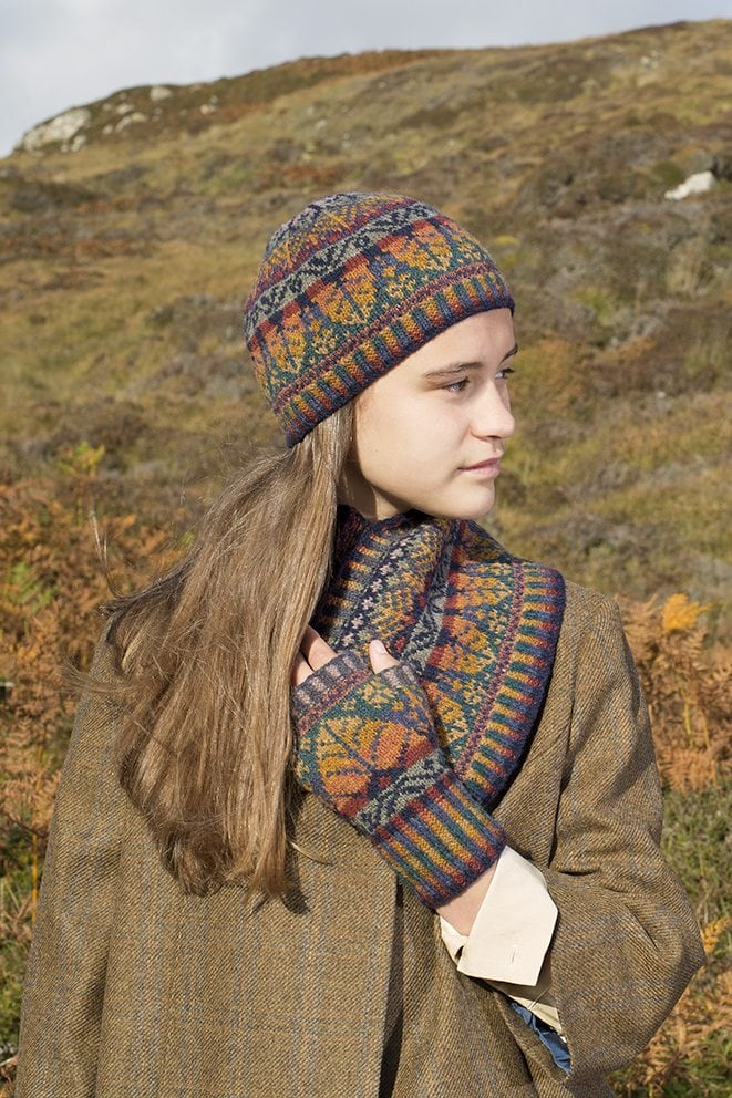 a53e9463995 Oregon Hat Set design patterncard kit by Alice Starmore in Hebridean 2 Ply pure  British wool