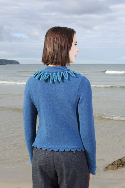 The Raven cardigan hand knitwear design by Alice Starmore from the book Glamourie