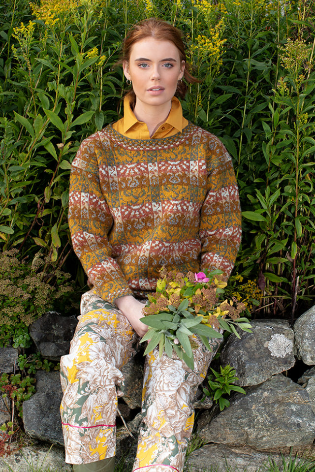Rheingold patterncard knitwear design by Jade Starmore in pure wool Hebridean 2 Ply hand knitting yarn