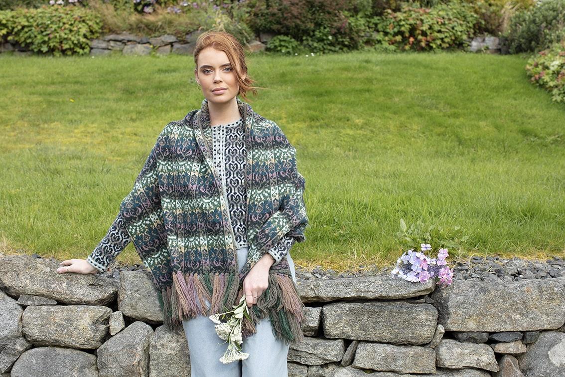Rheingold and Loch Lomond patterncard knitwear designs by Jade Starmore in pure wool Hebridean 2 Ply hand knitting yarn