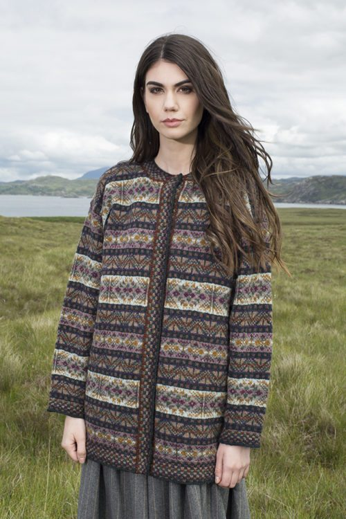 Rona patterncard kit by Alice Starmore in Hebridean 2 Ply pure British wool hand knitting yarn