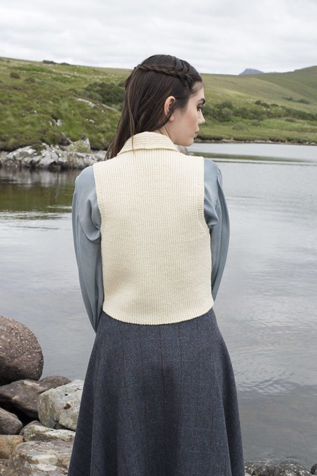 Scapa patterncard kit by Alice Starmore in Scottish Fleet pure British wool hand knitting yarn