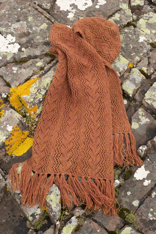 Seaweed patterncard kit by Alice Starmore in Hebridean 2 Ply pure British wool hand knitting yarn