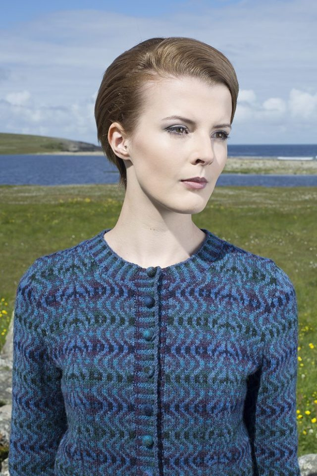 The Selkie hand knitwear design by Alice Starmore from the book Glamourie