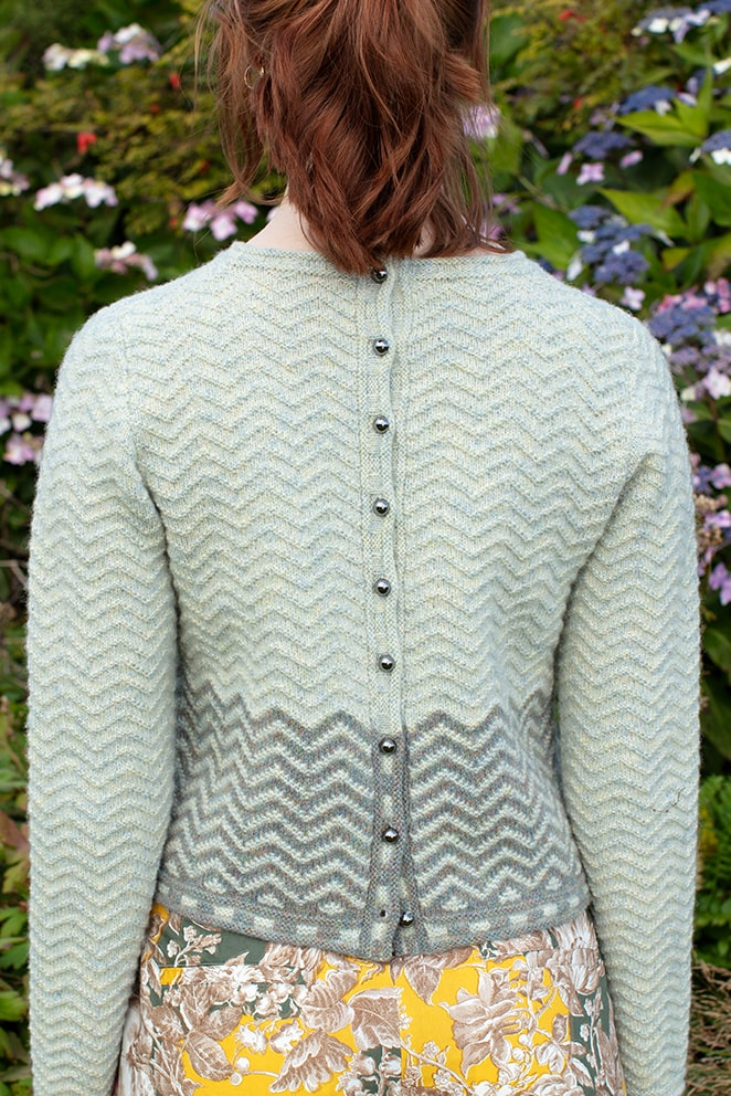 Sheshader patterncard knitwear design by Jade Starmore in pure wool Hebridean 2 Ply hand knitting yarn