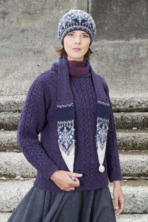 St Agnes Eve patterncard kit by Alice Starmore in Hebridean 2 Ply pure British wool hand knitting yarn