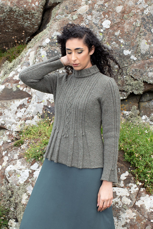 Strathspey patterncard kit design by Alice Starmore in Hebridean 3 Ply yarn