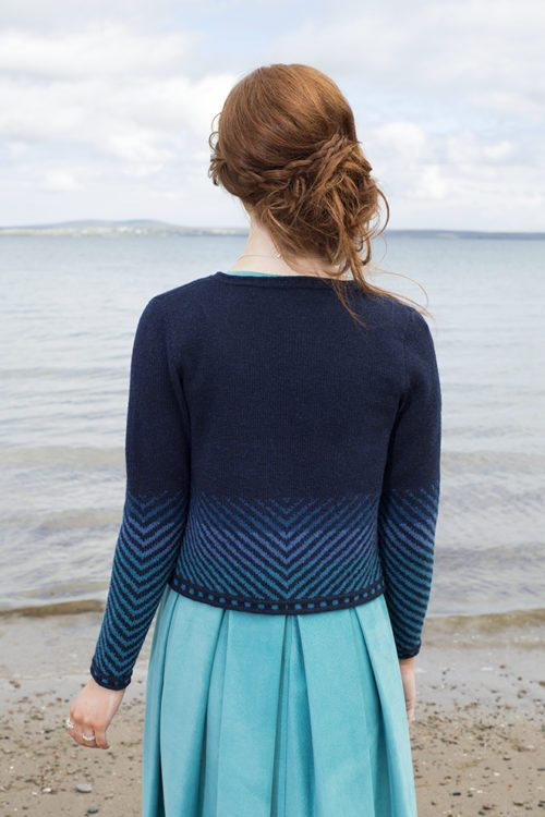 Traigh patterncard kit by Jade Starmore in Hebridean 2 Ply pure British wool hand knitting yarn