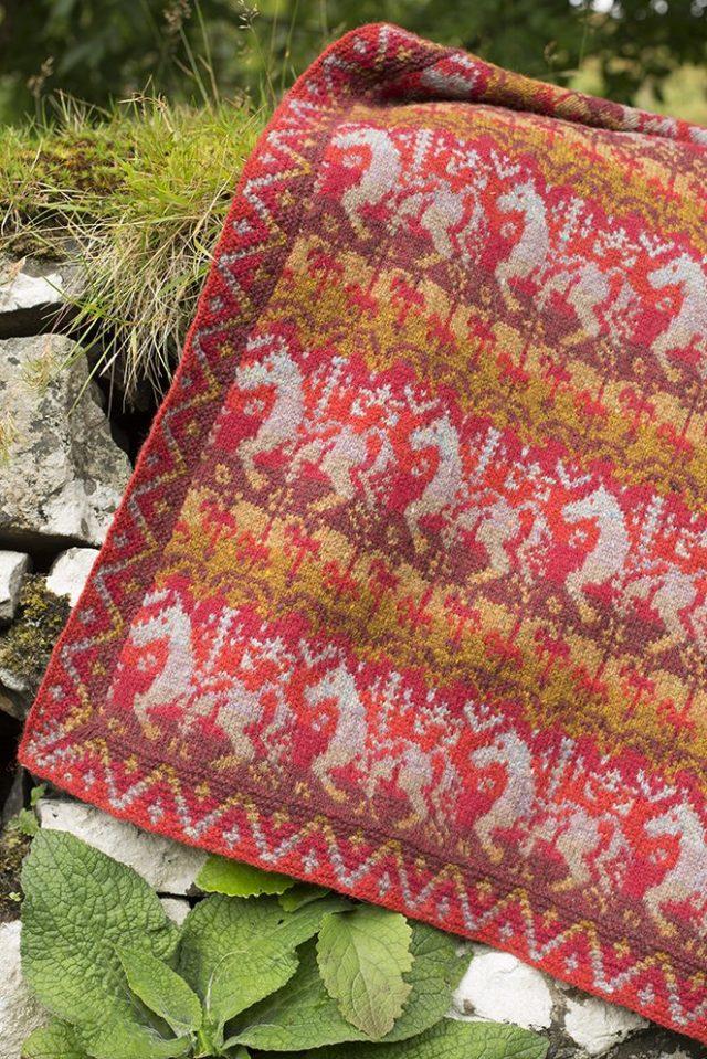 Widdicombe Fair patterncard kit by Jade Starmore in Hebridean 2 Ply pure British wool hand knitting yarn