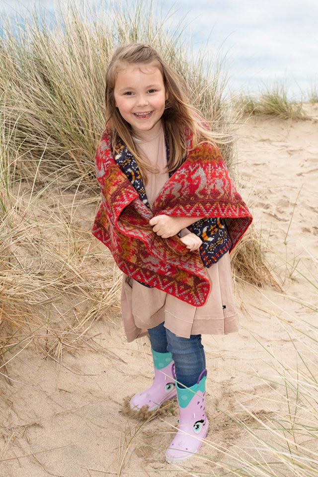 Widdicombe Fair patterncard knitwear design by Jade Starmore in pure wool Hebridean 2 Ply hand knitting yarn