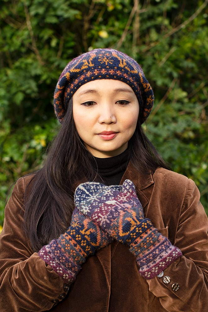 Witch Hare patterncard kit design by Alice & Jade Starmore in Hebridean 2 Ply yarn