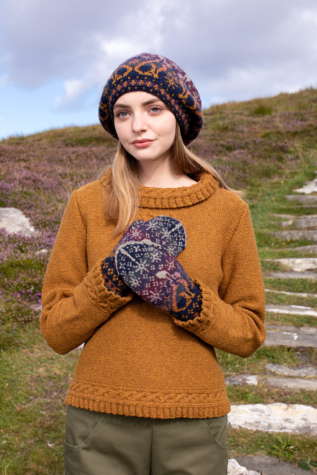 Witch Hare & Eightsome Reel patterncard kit designs by Alice & Jade Starmore in Hebridean 2 Ply yarn