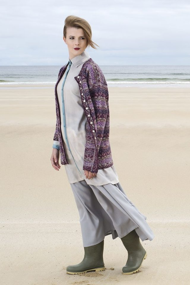 Zauberflote patterncard kit by Jade Starmore in Hebridean 2 Ply pure British wool hand knitting yarn