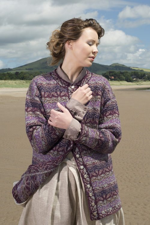 Zauberflote patterncard kit by Jade Starmore in Hebridean 2 Ply pure British wool hand knitting yarn