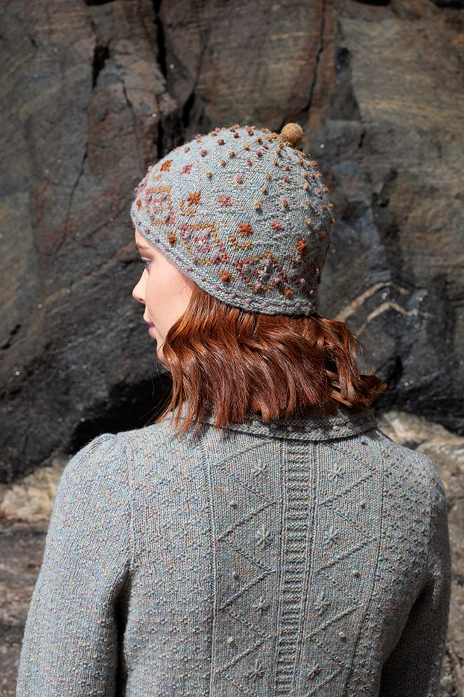 Mountain Hare Jacket & Hat hand knitwear designs from the book Glamourie by Alice Starmore