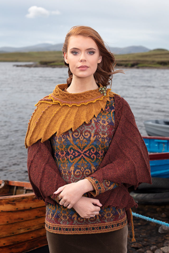 Henry VIII and Eagle Wrap hand knitwear designs by Alice Starmore