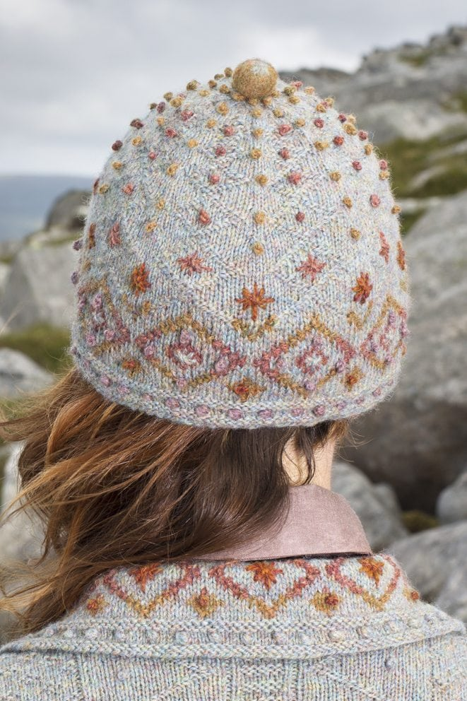 Mountain Hare Hat design from Glamourie by Alice Starmore