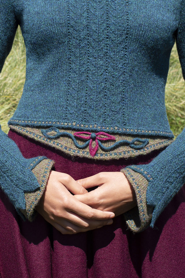 Lapwing hand knitwear design from the book Glamourie by Alice Starmore