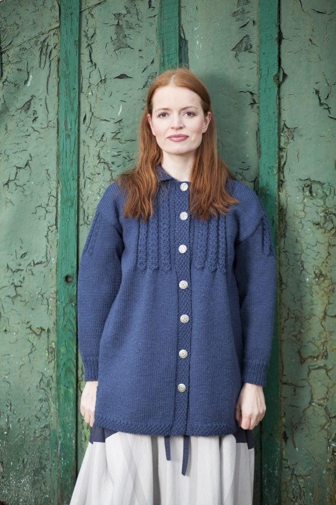 Mendocino patterncard kit by Alice Starmore in Bainin pure British wool hand knitting yarn