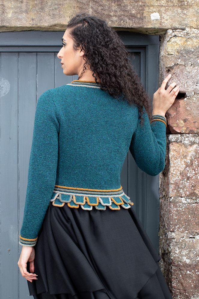 Mol Eire patterncard kit design by Jade Starmore in Hebridean yarn