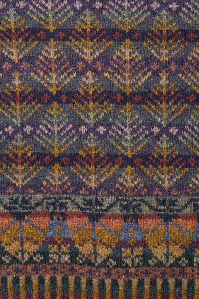 Oregon design by Jade Starmore in autumn colourway