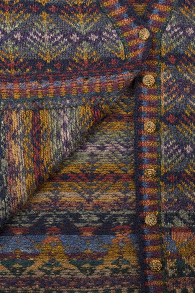 Interior detail of Oregon design by Jade Starmore in autumn colourway