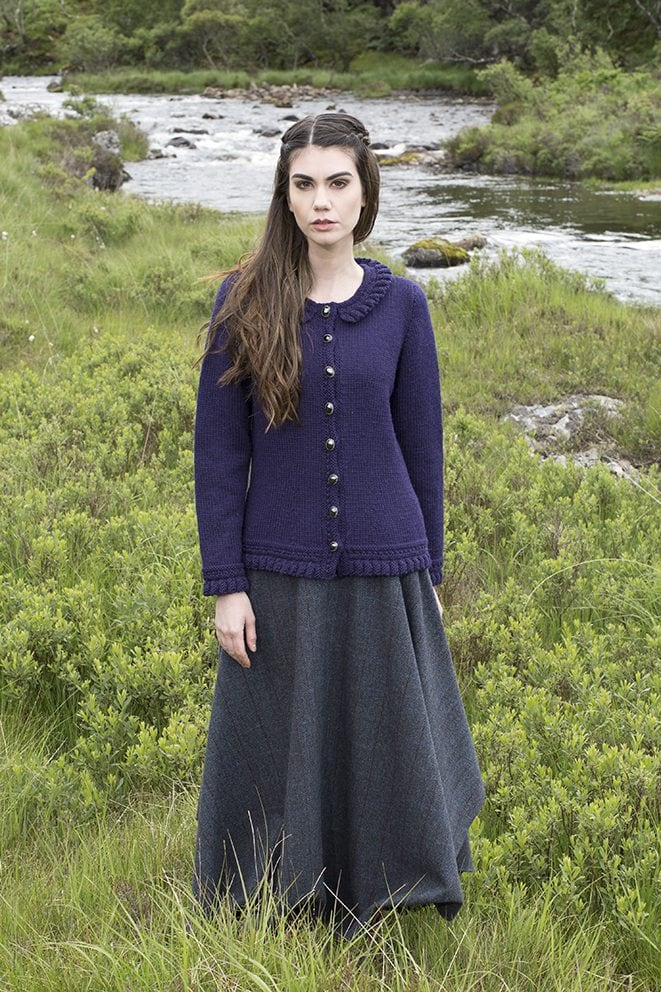 Petronella patterncard kit by Alice Starmore in Bainin pure British wool hand knitting yarn
