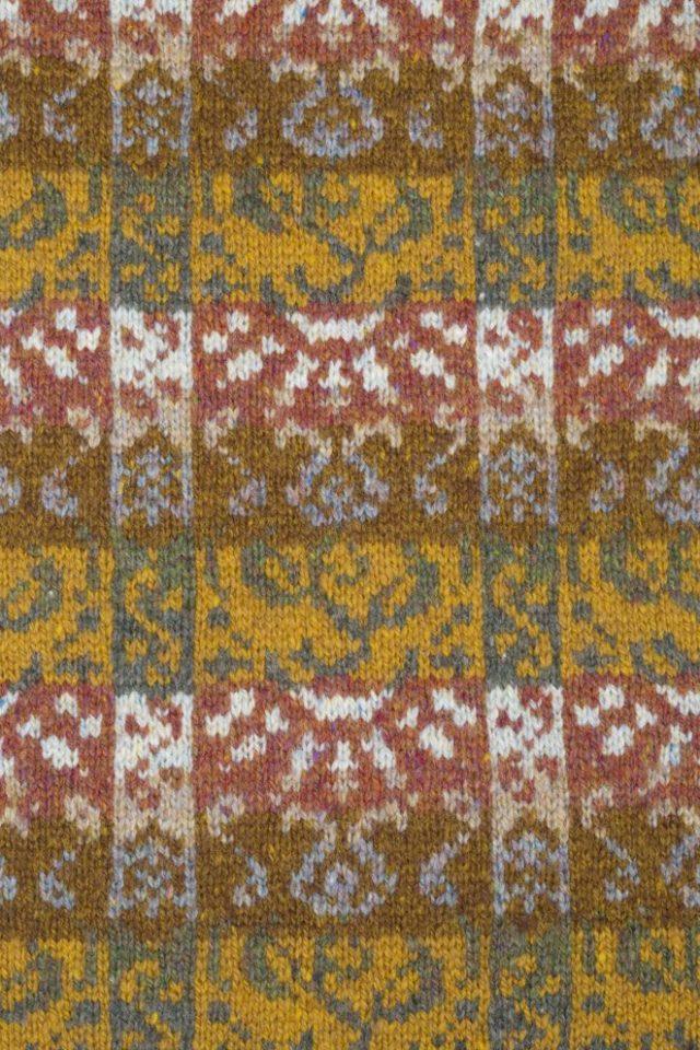 Rheingold design by Jade Starmore in gold colourway