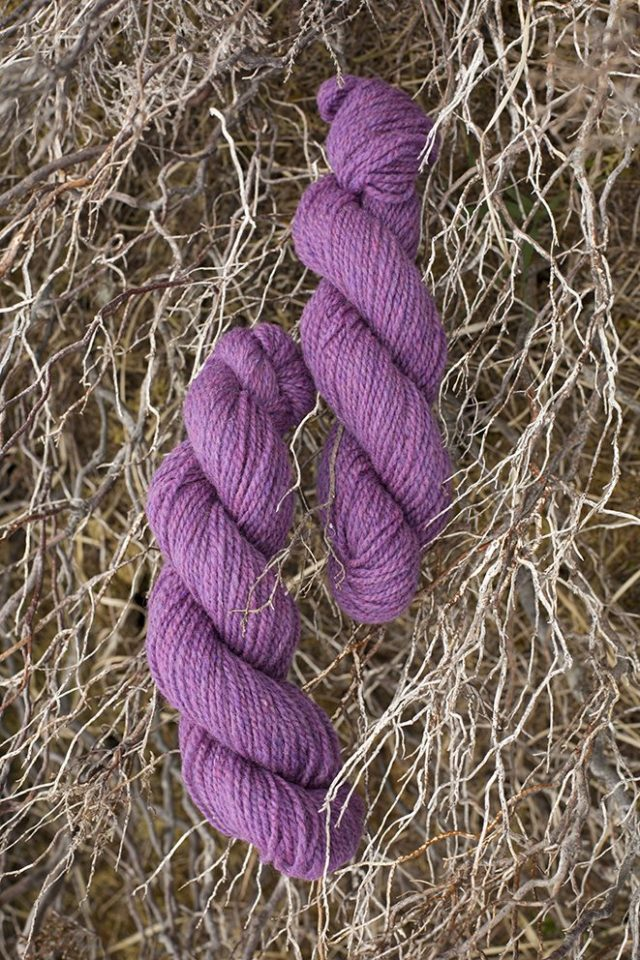 Alice Starmore Hebridean 2 Ply pure new British wool hand knitting Yarn in Wild Orchid colour