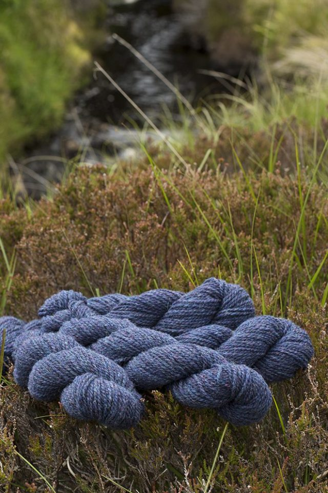Alice Starmore Hebridean 2 Ply pure new British wool hand knitting Yarn in Storm Petrel colour