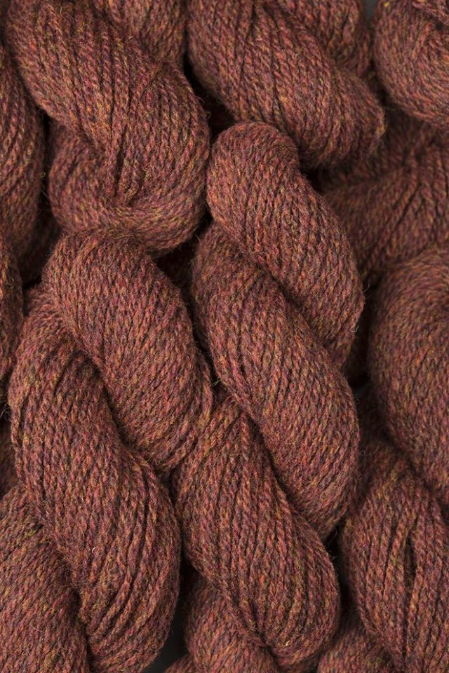 Alice Starmore Hebridean 2 Ply pure new British wool hand knitting Yarn in Tormentil colour
