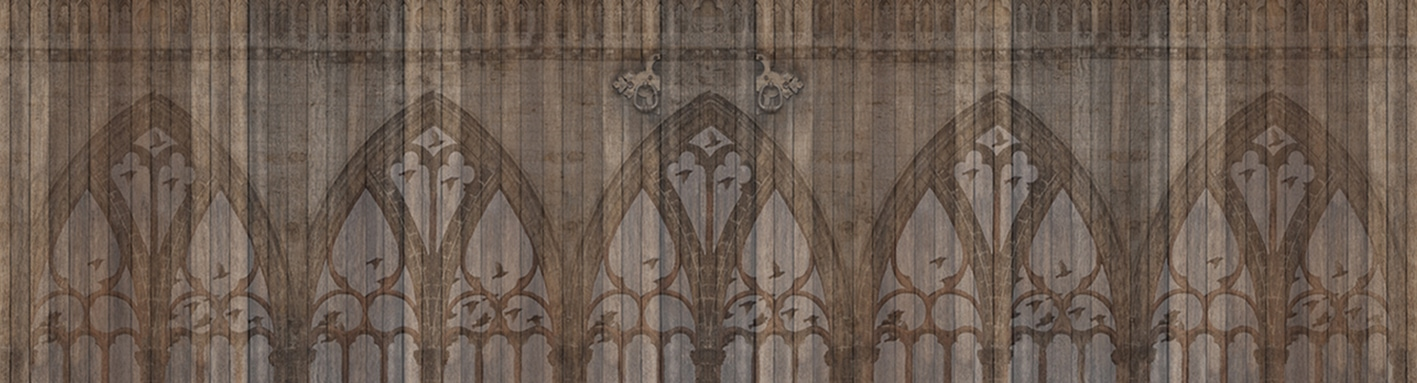 The Cathedral Doors Are Always Open photographic print fabric design by Jade Starmore