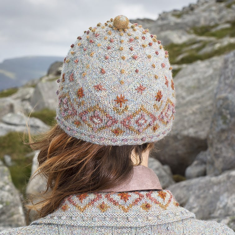 Mountain Hare Hat design from the book Glamourie by Alice Starmore