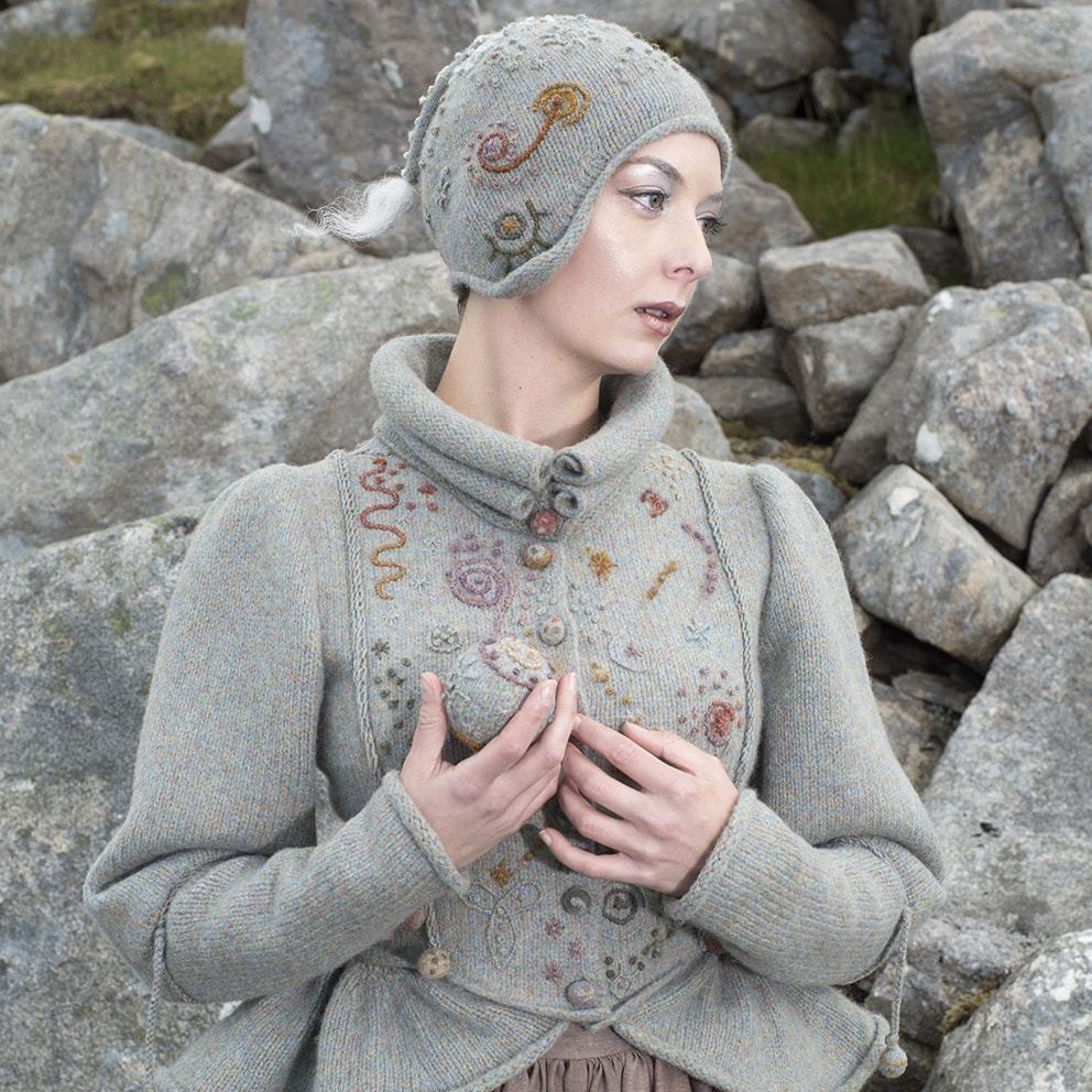 Mountain Hare costume from the book Glamourie by Alice Starmore