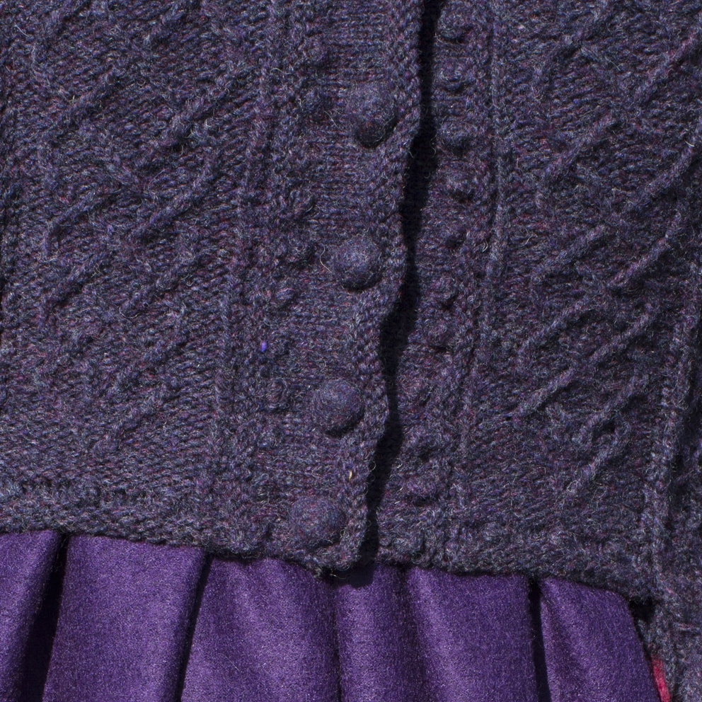 Detail of the Cailleach costume from the book Glamourie by Alice Starmore