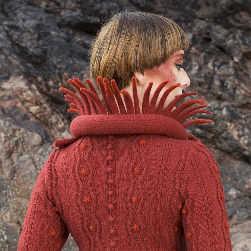 The Sea Anemone costume from the book Glamourie by Alice Starmore