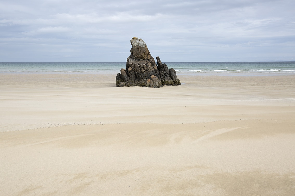 Rock formation on a Lewis beach