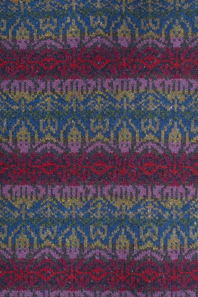 Laleli patterncard knitwear design by Jade Starmore in pure wool Hebridean 2 Ply hand knitting yarn