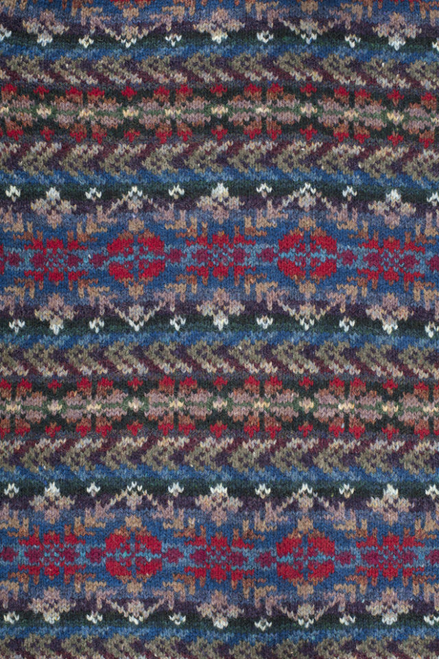 Marina patterncard knitwear design by Alice Starmore in pure wool Hebridean 2 Ply hand knitting yarn