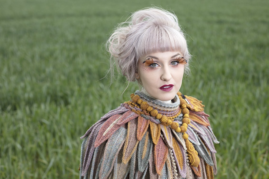 Layers of hand knitwear and felting in Hebridean 2 Ply from the book Glamourie by Alice Starmore