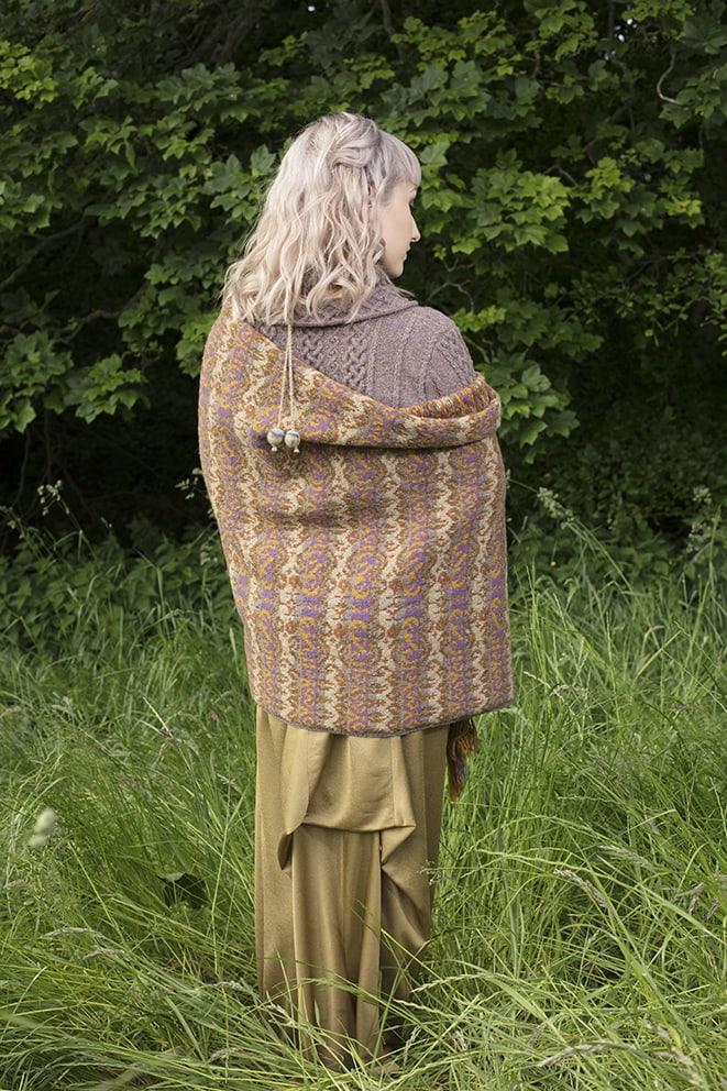Lovebirds knitwear design patterncard kit by Jade Starmore in pure wool Hebridean 2 Ply hand knitting yarn