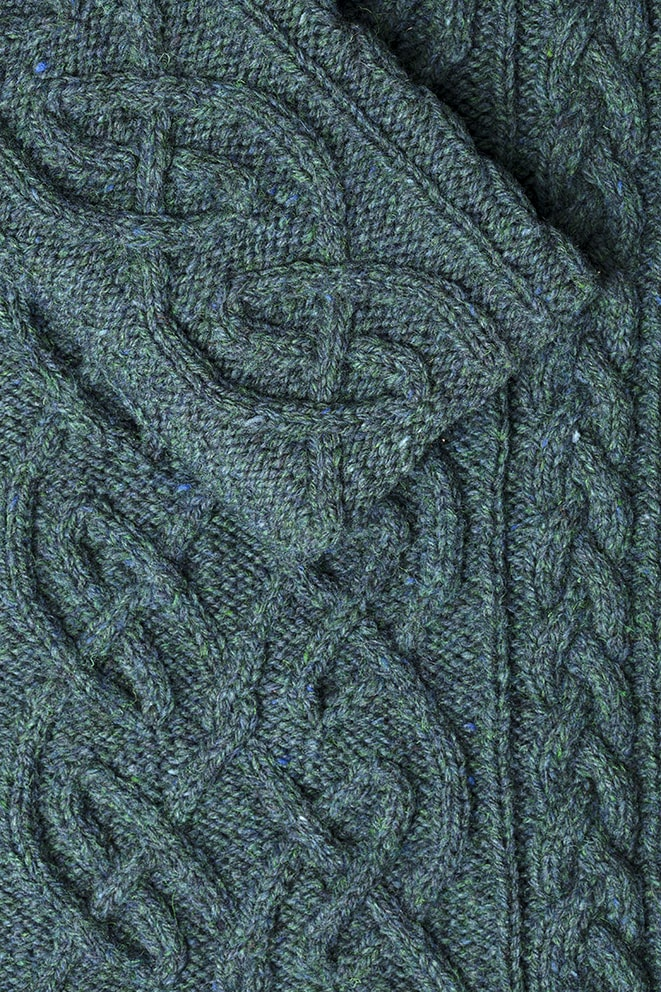 Detail Of The St Brigid Knitwear Design From Aran Knitting By Alice Starmore Virtual Yarns