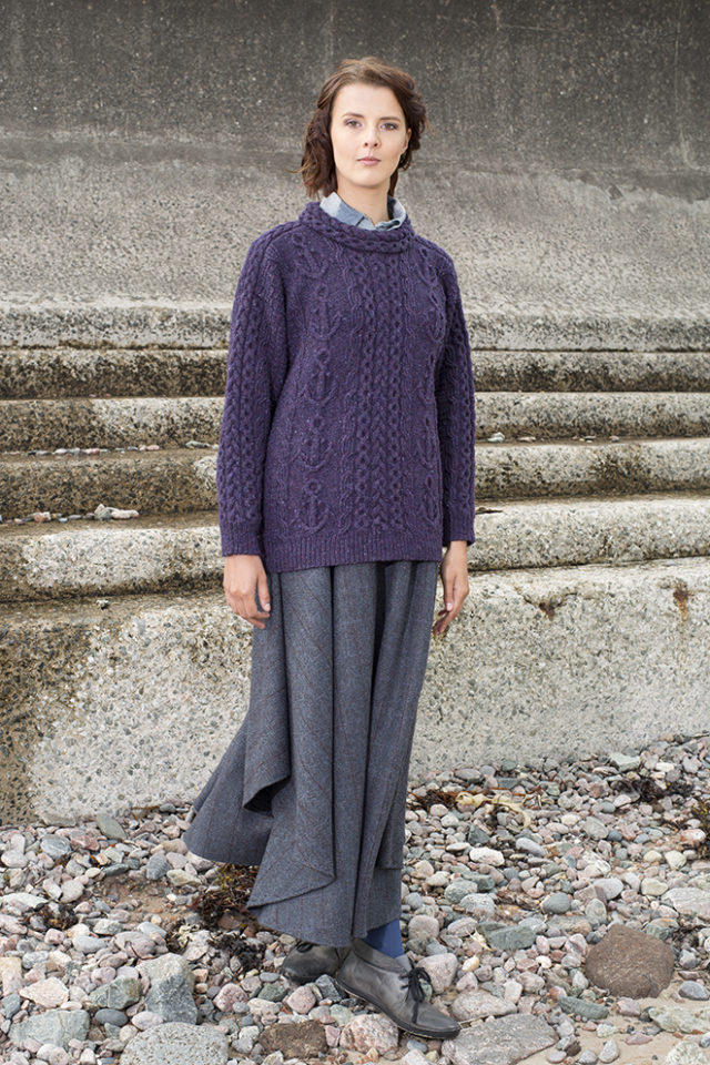 Mystic patterncard knitwear design by Alice Starmore in pure wool Hebridean 3 Ply hand knitting yarn