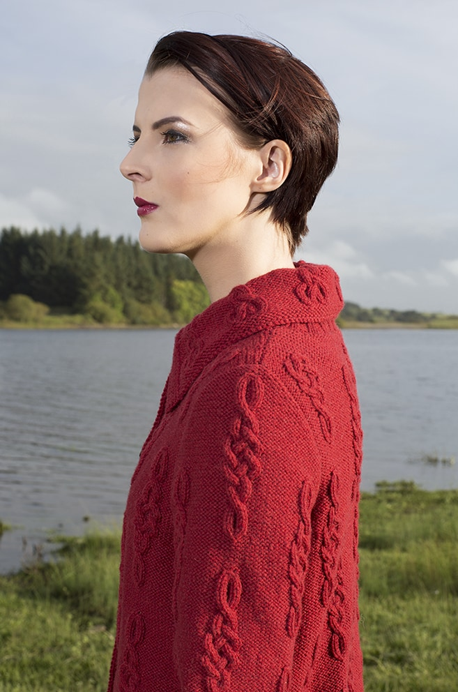 Graceknot patterncard knitwear design by Alice Starmore in pure wool Hebridean 3 Ply hand knitting yarn