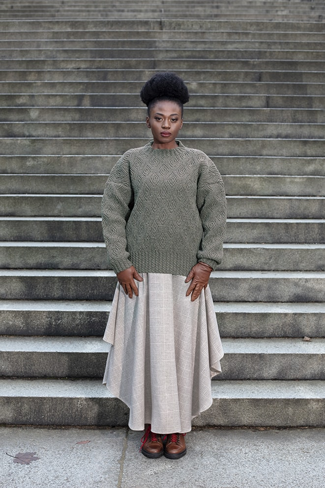 Canyonville patterncard knitwear design by Alice Starmore in pure wool Hebridean 3 Ply hand knitting yarn