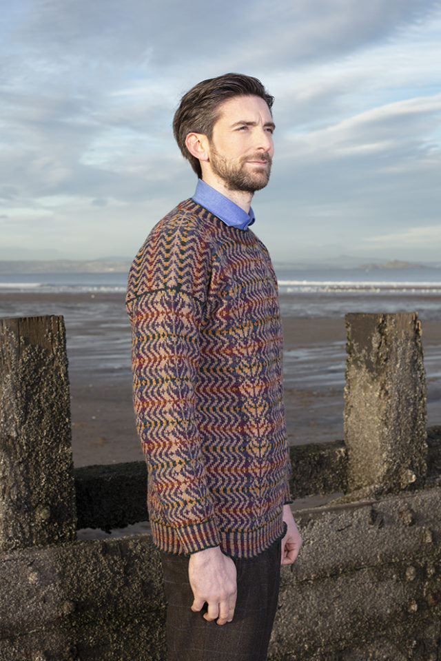 Selkie Pullover patterncard knitwear design by Alice Starmore in pure wool Hebridean 2 Ply hand knitting yarn