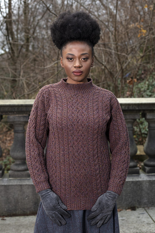 Irish Moss hand knitwear design from the book Aran Knitting by Alice Starmore
