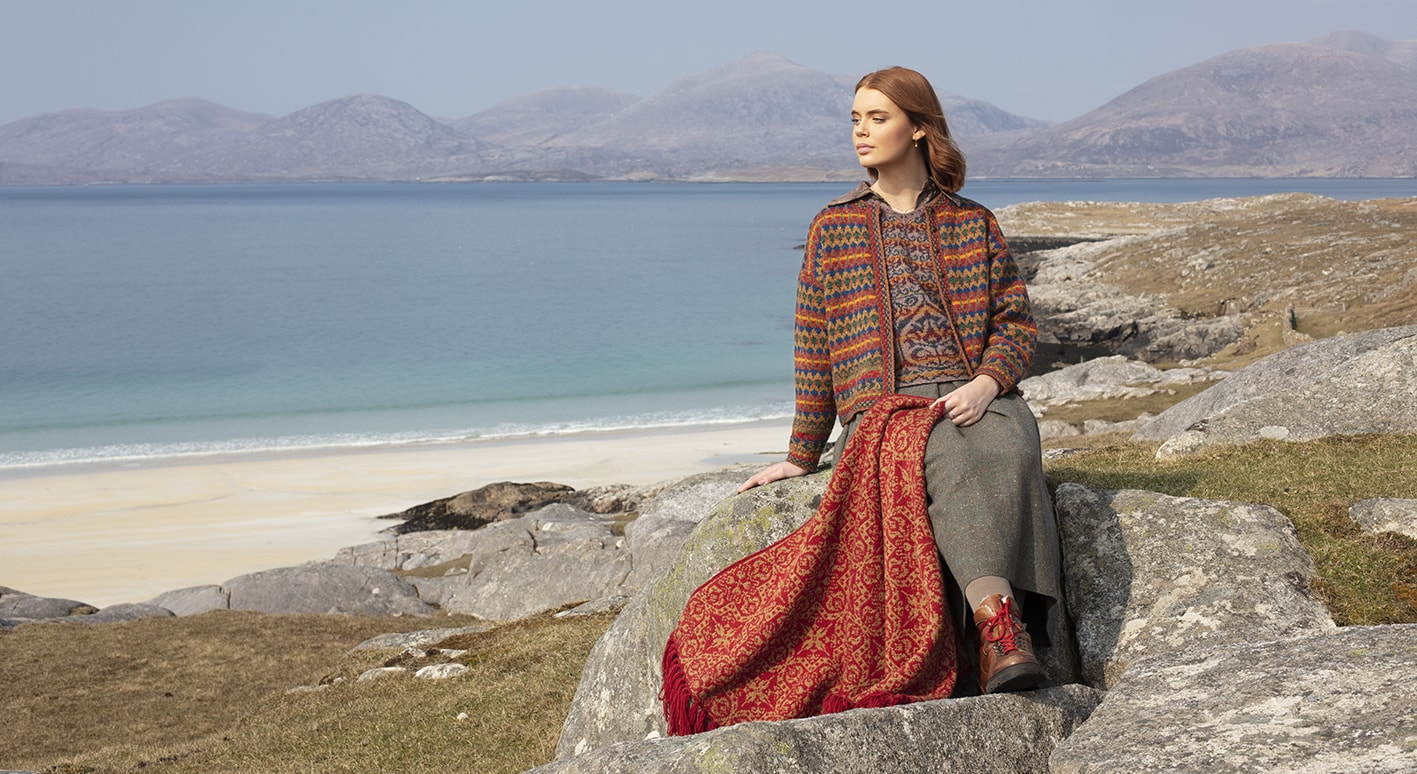 Gypsy Moth, Suzani Vest and Persian Tiles Wrap hand knitwear designs from the book A Collector's Item by Jade Starmore
