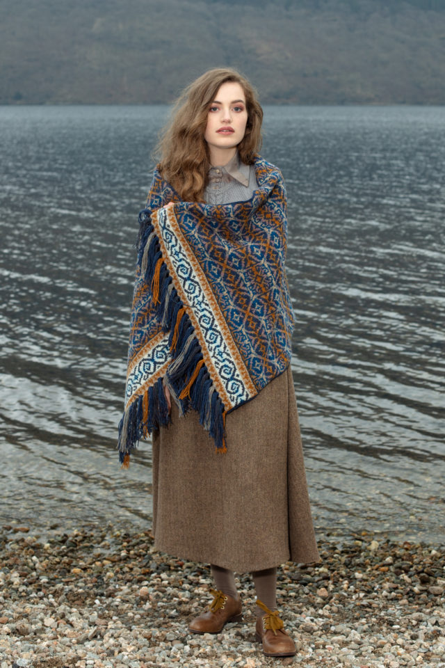 Arabesque hand knitwear design in Winter colourway by Jade Starmore from the book A Collector's Item